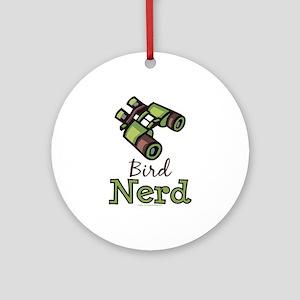 Bird Nerd Birding Ornithology Ornament (Round)