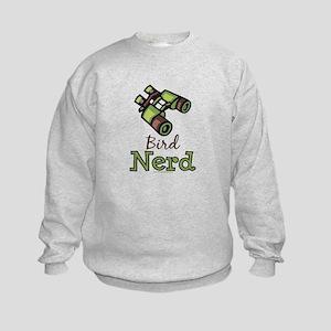 Bird Nerd Birding Ornithology Kids Sweatshirt