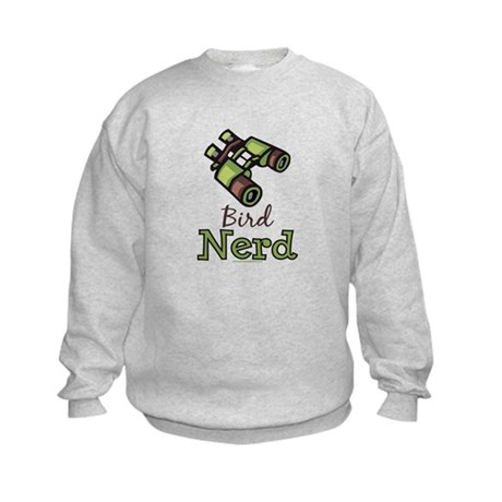 Bird Nerd Birding Ornithology Kids Sweatshirt