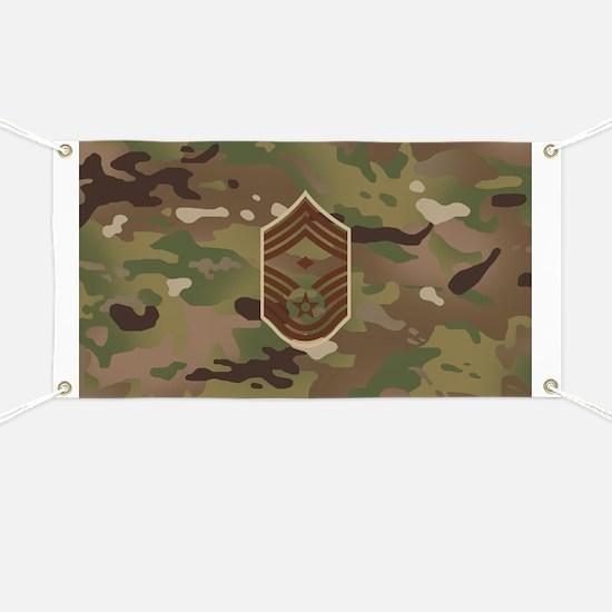 U.S. Air Force: E-9 1st Sergeant (Camo) Banner