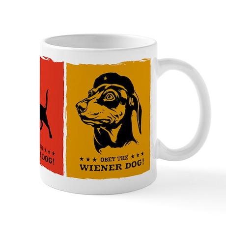 Obey the Wiener Dog! propaganda icon Mug