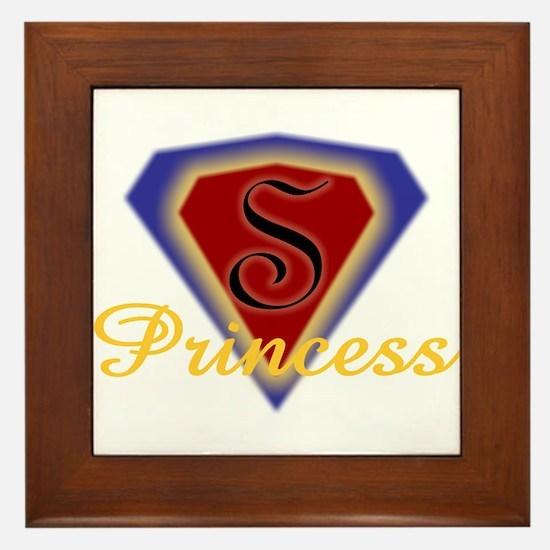 Super Princess Framed Tile