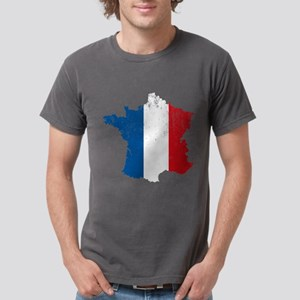 French Map Flag Mens Comfort Colors Shirt