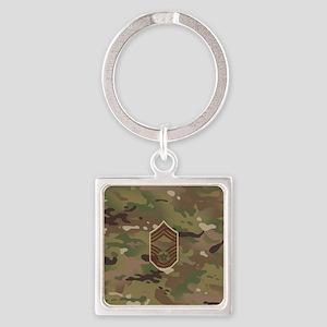 U.S. Air Force: CMSgt (Camo) Square Keychain