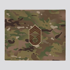 U.S. Air Force: CMSgt (Camo) Throw Blanket