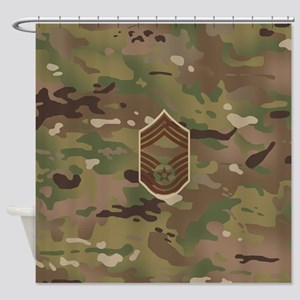 U.S. Air Force: CMSgt (Camo) Shower Curtain