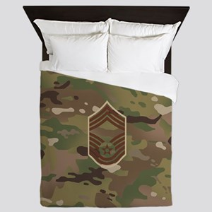 U.S. Air Force: CMSgt (Camo) Queen Duvet