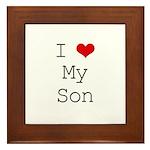 I Heart My Son Framed Tile
