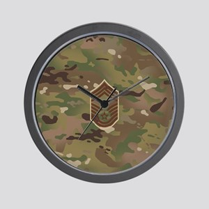 U.S. Air Force: CMSgt (Camo) Wall Clock