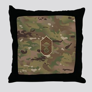 U.S. Air Force: CMSgt (Camo) Throw Pillow