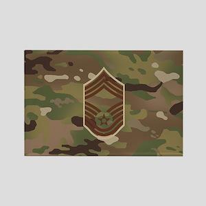U.S. Air Force: CMSgt (Camo) Rectangle Magnet
