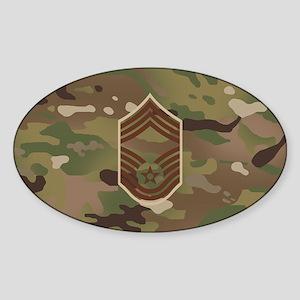U.S. Air Force: CMSgt (Camo) Sticker (Oval)