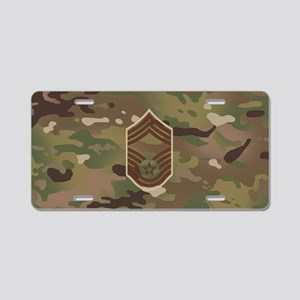 U.S. Air Force: CMSgt (Camo Aluminum License Plate
