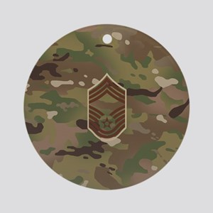 U.S. Air Force: CMSgt (Camo) Round Ornament