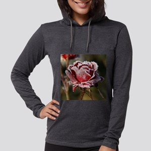 Rose With Frost On It Long Sleeve T-Shirt