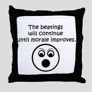 Beatings Throw Pillow