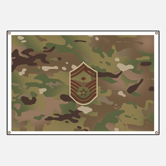 U.S. Air Force: E-8 1st Sergeant (Camo) Banner