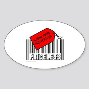 ALCOHOL ABUSE PREVENTION Oval Sticker