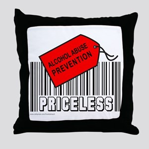ALCOHOL ABUSE PREVENTION Throw Pillow
