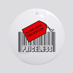 ALCOHOL ABUSE PREVENTION Ornament (Round)