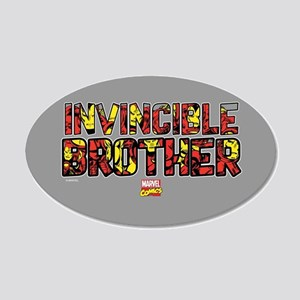 Iron Man Brother 20x12 Oval Wall Decal