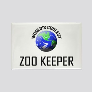 World's Coolest ZOO KEEPER Rectangle Magnet