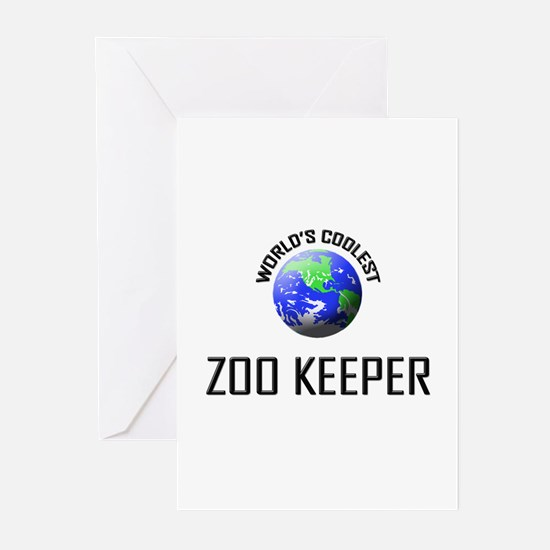 World's Coolest ZOO KEEPER Greeting Cards (Pk of 1