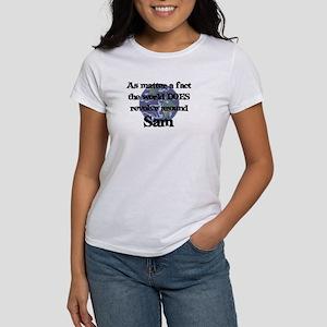 World Revolves Around Sam Women's T-Shirt