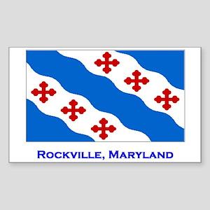 Rockville MD Flag Rectangle Sticker