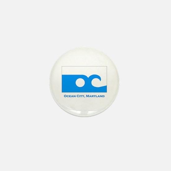 Ocean City MD Flag Mini Button