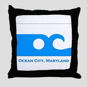 Ocean City MD Flag Throw Pillow