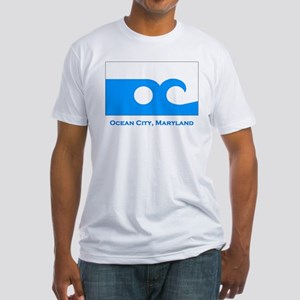 Ocean City MD Flag Fitted T-Shirt