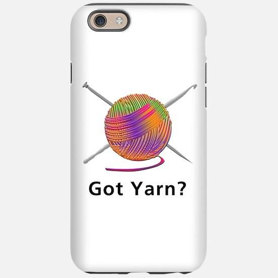 Cute Knitting yarn men crafts iPhone 6/6s Tough Case