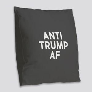 Anti Trump AF Burlap Throw Pillow