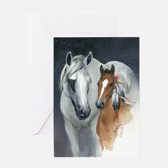 Funny Horse themed Greeting Card