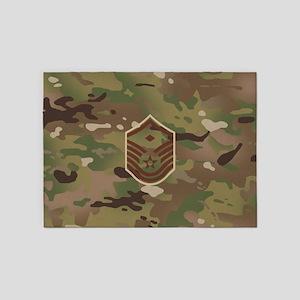 U.S. Air Force: E-7 1st Sergeant (C 5'x7'Area Rug