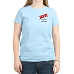 Back off Raised 2 Marines Women's Light T-Shirt