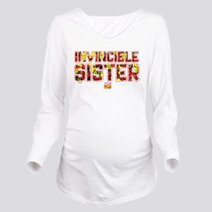 Iron Man Sister Long Sleeve Maternity T-Shirt