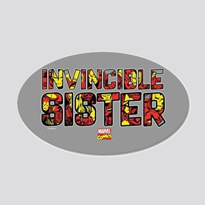 Iron Man Sister 20x12 Oval Wall Decal
