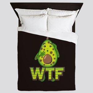 Emoji Avocado WTF Queen Duvet