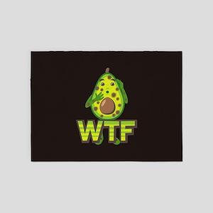 Emoji Avocado WTF 5'x7'Area Rug