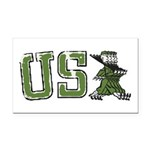 USA Military Parade Rectangle Car Magnet