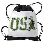 USA Military Parade Drawstring Bag