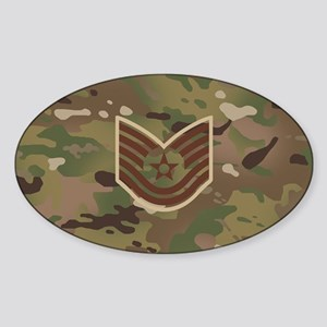 U.S. Air Force: E-6 TSgt (Camo) Sticker (Oval)
