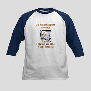 Old Mathematicians Kids Baseball Jersey