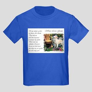 Golden Retriever Art Kids Dark T-Shirt