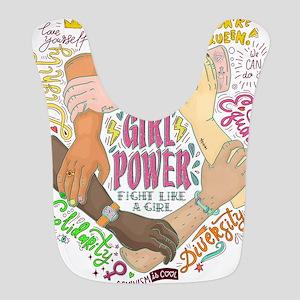 Girl Power Polyester Baby Bib
