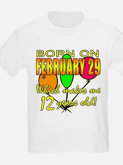 Leap Year Birthday 48 Yrs T-Shirt