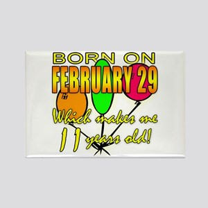 Born on Leap Year, 11 Years Old Rectangle Magnet