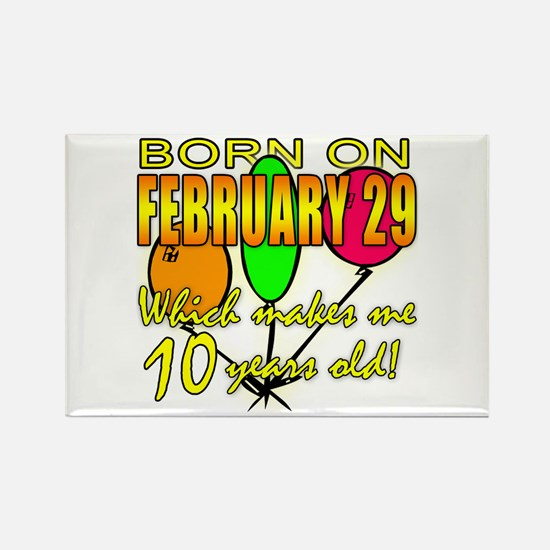 Born on Leap Year, 10 Years Old Rectangle Magnet